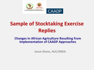 Sample of Stocktaking Exercise Replies