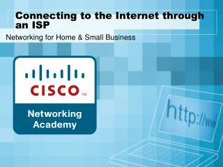 Connecting to the Internet through an ISP