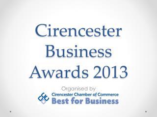Cirencester  Business Awards 2013