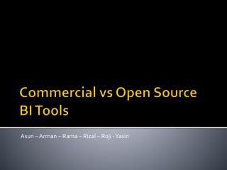 Commercial vs Open Source BI Tools