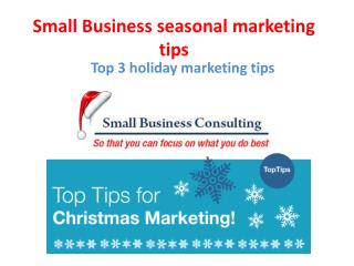 Small Business seasonal marketing tips