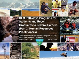 BLM Pathways Programs for Students and Recent Graduates to Federal Careers (Part 2: Human Resources Practitioners)