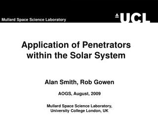 Application of Penetrators within the Solar System