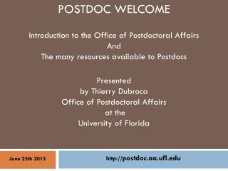 POSTDOC WELCOME