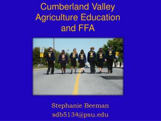 Cumberland Valley Agriculture Education  and FFA