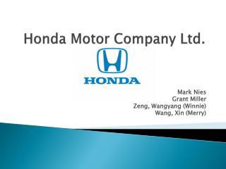 Honda Motor Company Ltd.