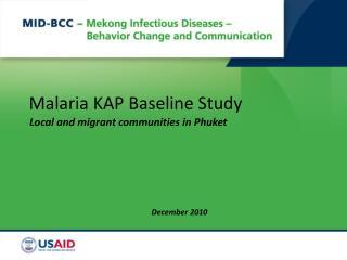 Malaria KAP Baseline Study
