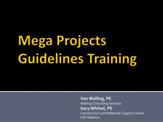 Mega Projects Guidelines Training