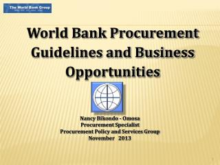 World Bank Procurement Guidelines and Business Opportunities