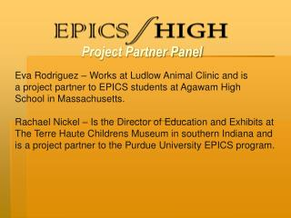 Project Partner Panel