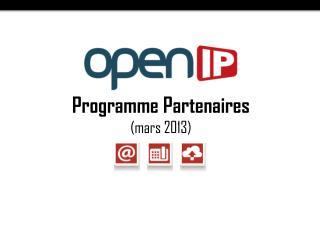 Programme Partenaires (mars 2013)