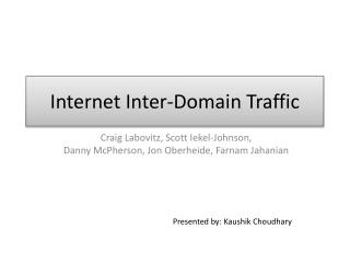 Internet Inter-Domain Traffic