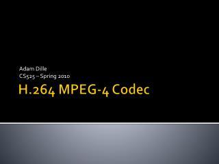 H.264 MPEG-4 Codec