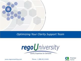 Optimizing Your Clarity Support Team