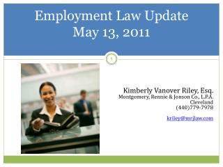 Employment Law  Update May 13, 2011