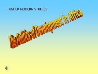 The Politics of Development in Africa