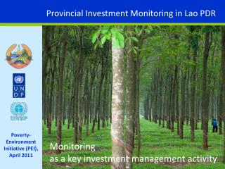 Provincial Investment Monitoring in Lao PDR