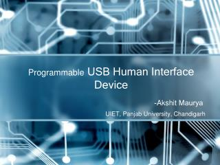 Programmable  USB Human Interface Device