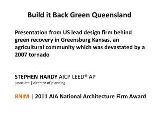 Build it Back Green Queensland