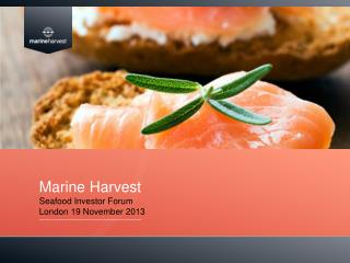 Marine Harvest Seafood Investor Forum London 19 November 2013