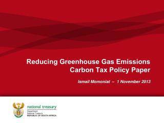 Reducing Greenhouse Gas Emissions  Carbon Tax Policy Paper