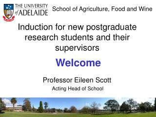 Induction  for  new postgraduate research students and their supervisors