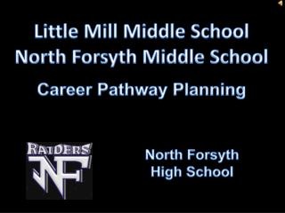 Little Mill Middle School North Forsyth Middle School Career Pathway Planning