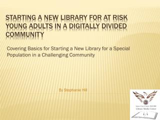Starting a new library for at risk young adults in a digitally divided community