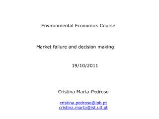 Environmental Economics Course
