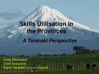 Skills Utilisation in the Provinces