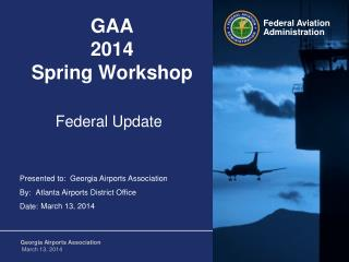 GAA 2014  Spring Workshop