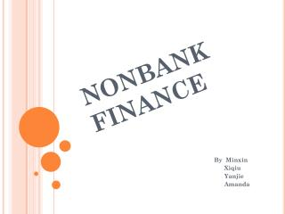 NONBANK FINANCE