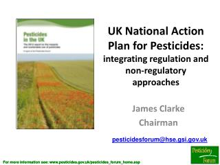 UK National Action Plan for Pesticides: integrating regulation and non-regulatory approaches