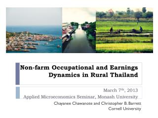 Non-farm Occupational and Earnings Dynamics in Rural Thailand