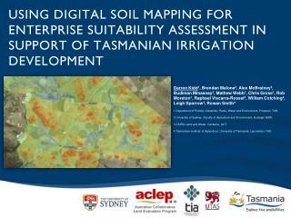 Using digital soil mapping for enterprise suitability assessment in support of Tasmanian irrigation development