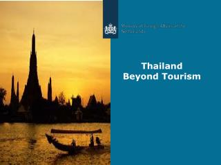 Thailand  B eyond  Tourism