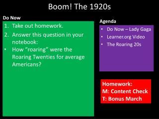 Boom! The 1920s