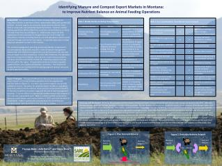 Identifying Manure and Compost Export  Markets in Montana:  to  Improve Nutrient Balance on Animal Feeding Operations