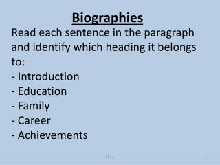 Read each sentence in the paragraph and identify which heading it belongs to: - Introduction - Education - Family - Car