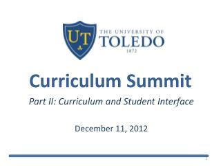 Curriculum Summit