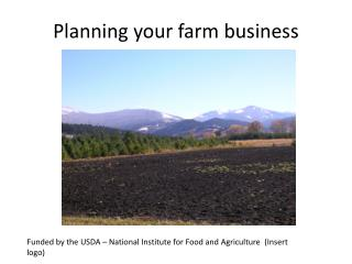 Planning  your  farm business