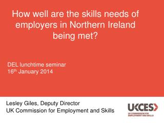 How well are the skills needs of employers in Northern Ireland being met?