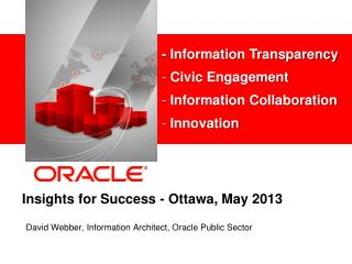 Insights for Success - Ottawa, May 2013