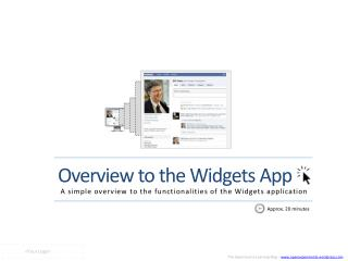 Overview to the Widgets App