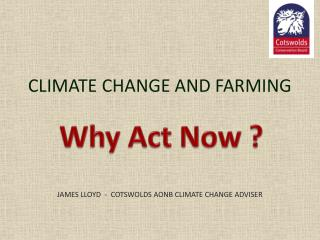 CLIMATE CHANGE AND FARMING