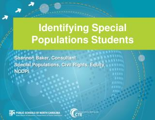 Identifying Special Populations Students