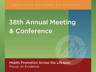 HEALTH PROMOTION ACROSS THE LIFE SPAN American Academy of Nursing
