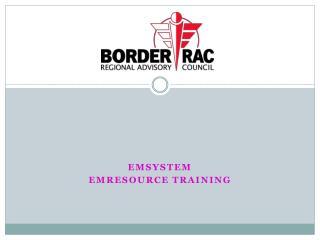 EMSystem EMResource Training