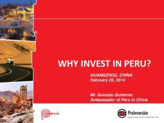 WHY INVEST IN PERU?