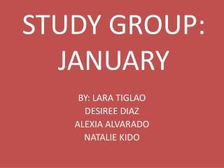 STUDY GROUP: JANUARY